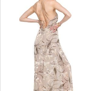 ASTR the label tie back wrap maxi dress